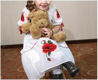 Romanian blouse - children dress popies