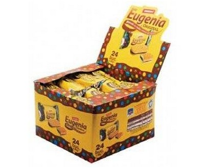 Eugenia Original Biscuit With Cacao 36 Gram (24x36 Gr)-Yellow Box