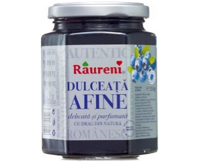 Blueberry confiture - Raureni - 350gr