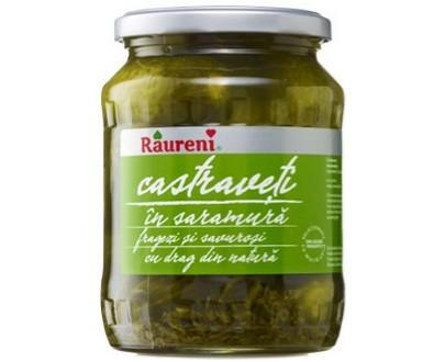 Cucumbers in brine - Raureni - 690gr