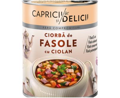 Capricii si Delicii - Bean soup with ham - 400gr