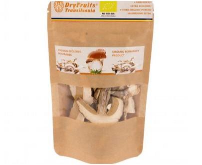 Dehydrated porcini mushrooms - 20g - ORGANIC - Dry fruits Transilvania