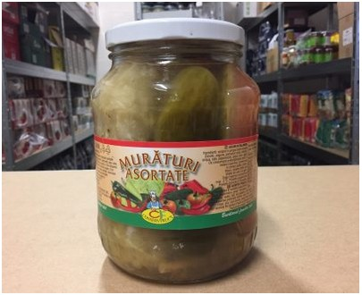 lot de 4x1600g Pickles assortis