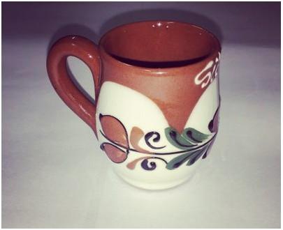 Ceramic Tuica glass - handmade - Sibiu