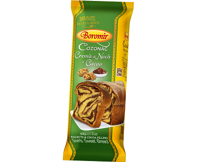 Boromir cozonac crema nuca cacao Brioche à la crème de cacao et noix