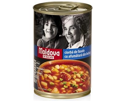Moldova ciorba de fasole cu afumatura 400g soupe de haricots et viande fumée