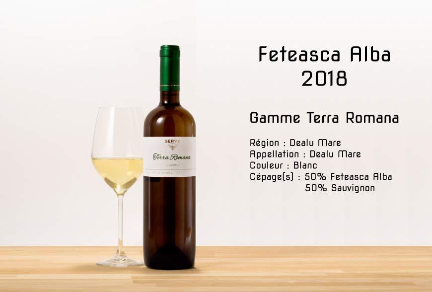 feteasca alba Terra Romana 2018 vin Roumain Romanian wine
