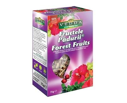 Infusion de fruits des bois aux fruits secs vedda roumanie