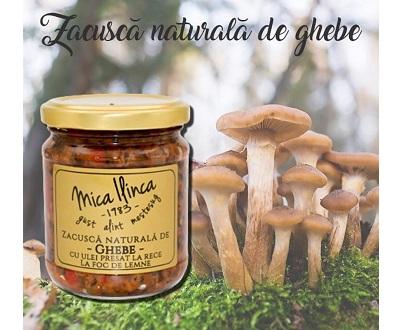 """zacusca aux champignons armillaires """"ghebe"""" mica ilinca cuite au feu de bois"""