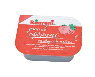 Dosette de confiture de fraises 20g g monodose Raureni