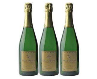 champagne blanc de blancs lot de 3x75cl Claude perrard