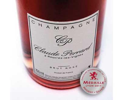 champagne brut rose aoc champagne claude perrard